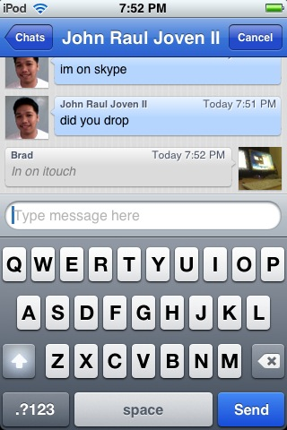 Skype on itouch