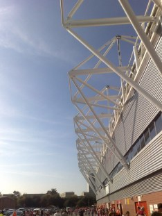 The rear of the Chapel Stand, St Marys Stadium, Southampton