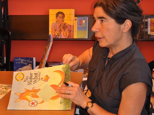 Debi Gliori, about to 'doodle'