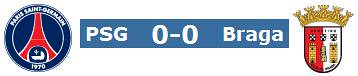 Paris Saint-Germain 0 - Braga 0