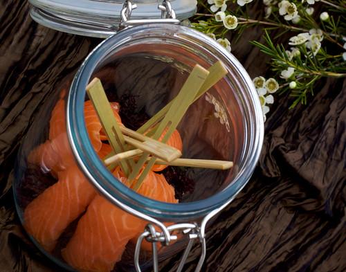 Smoked Salmon, smoked in the jar