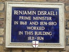 Benjamin Disraeli blue plaque