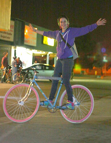 Tricia and her hot fixie