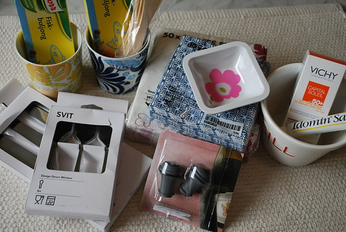 Some purchases from Ikea, Marimekko etc