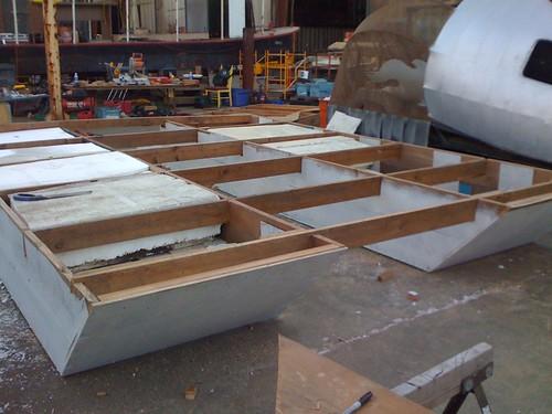 foam building boat