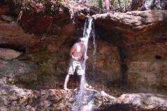 Matt in the waterfall