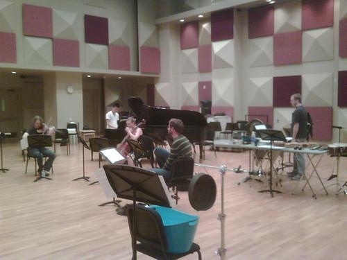 Hartke rehearsal at Colburn