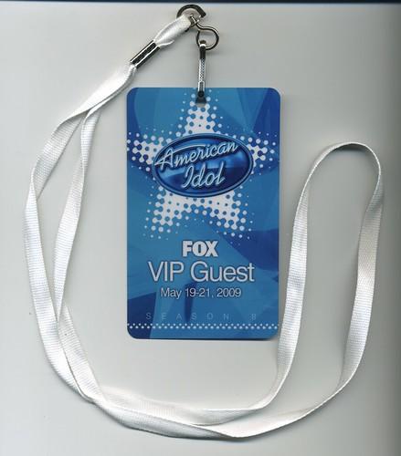 American Idol Finale VIP pass
