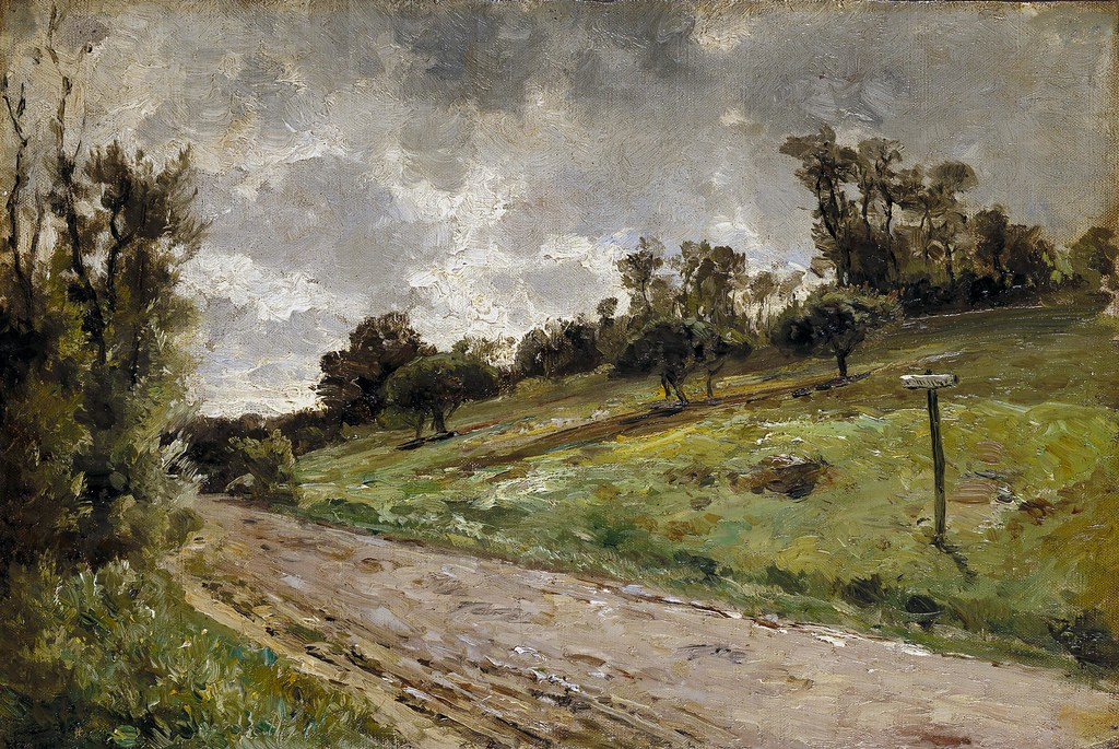 Carlos de Haes (Brussels, 1826-Madrid, 1898) Cercanías de Villerville, Normandy (c. 1877) Oil on canvas. 26.2 x 39 cm. Museo Nacional del Prado, Madrid.
