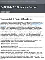 DoD, Web 2.0 Guidance Forum
