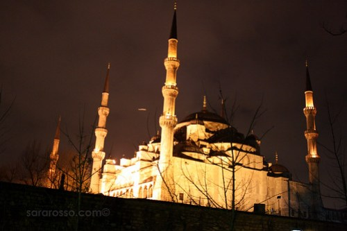 Blue Mosque, Istanbul, Turkey at Night