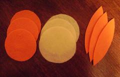 felt orange supples