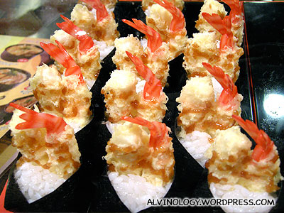 Prawn snacks - look very nice, but I didnt try