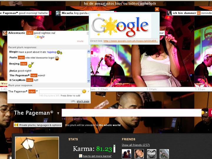 Google Doodle for Philippine Independence Day on Plurk