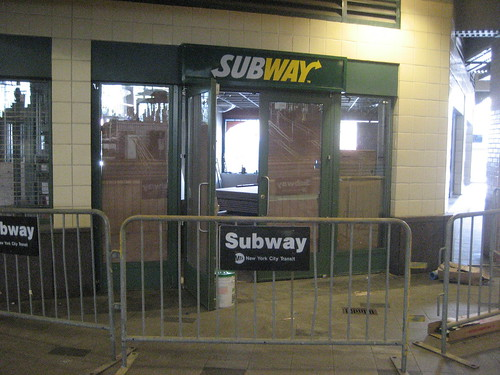 Still Under Construction at Stillwell Terminal: The Subway in the subway station. Photo © Tricia Vita/me-myself-i via flickr