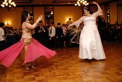 Bellydancing bride.
