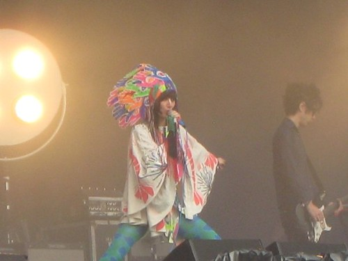 Lead singer of the Yeah Yeah Yeahs