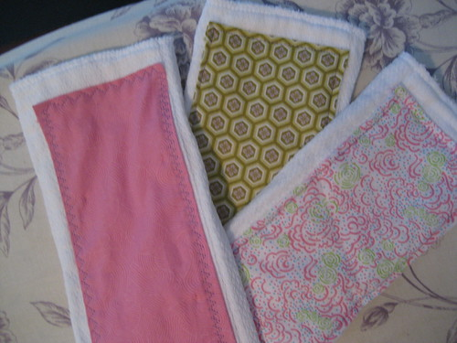 Girl burp cloths