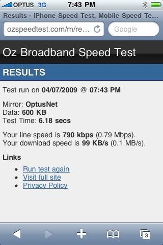 Speedtest 3G