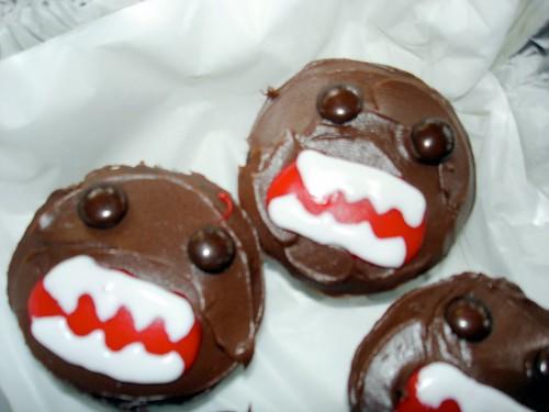 Closeup of Domo-kun Cupcakes
