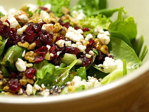 spinach salad with cranberries and walnuts by {sandralundy:photography}.