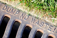 Photo of storm sewer drain