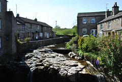 Waterfalls in village