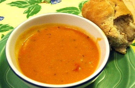 Split Pea & Potato Soup w/homemade Baguette