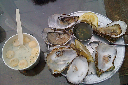Mmmm, oysters! by you.