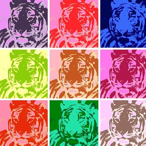 Tigress Warholized by you.