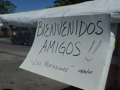 Our special welcome sign from Los Potosinos