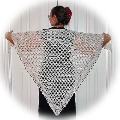 This a wonderful, wonderful crocheted shawl.  Beautiful!!