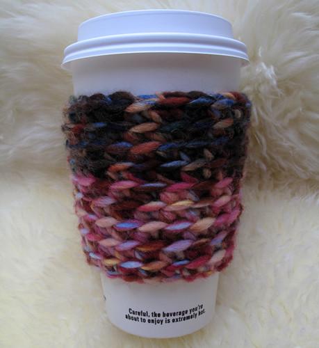 Wool Blend Crochet Coffee Cup Cozy