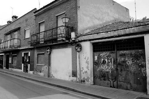 Edificios abandonados en la calle Portilla