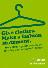 Fundraising Donate clothes poster