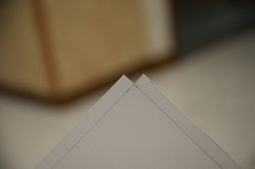 Cut the corners to fold the cutting board back.