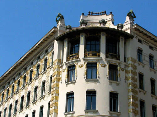 No 40 Linke Wienzeile, designed by Otto Wagner by you.