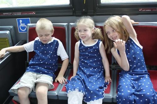 Ephraim, Amari and Keyzia on the subway