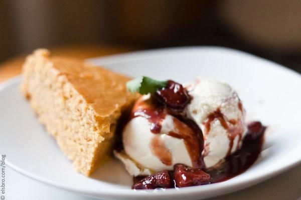 Custard Cake & Ice Cream