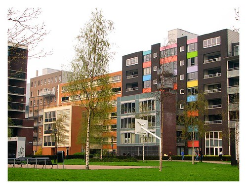 The colourful apartment blocks on Java island by you.