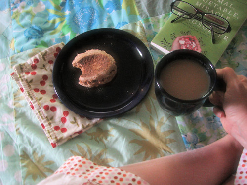Simple joy: breakfast in bed
