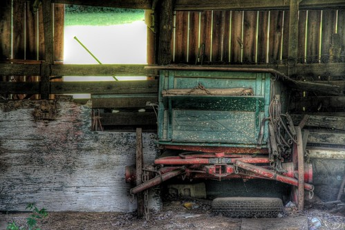 Wagon in the Barn