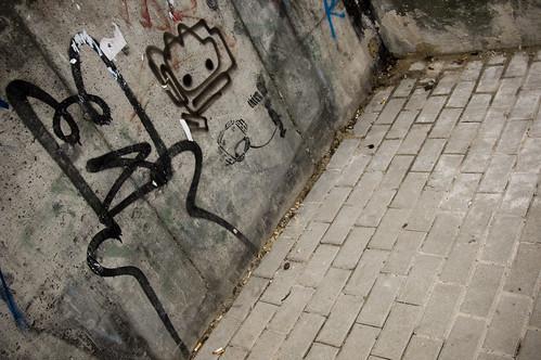 think stencil art & graffiti cat