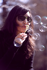 Blowing Bubbles, by .craig