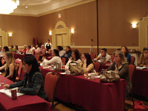 Conference participants listen to Justice ONeill speak to the importance of their work.