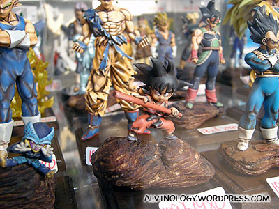 Rugged-look Dragon Ball figurines