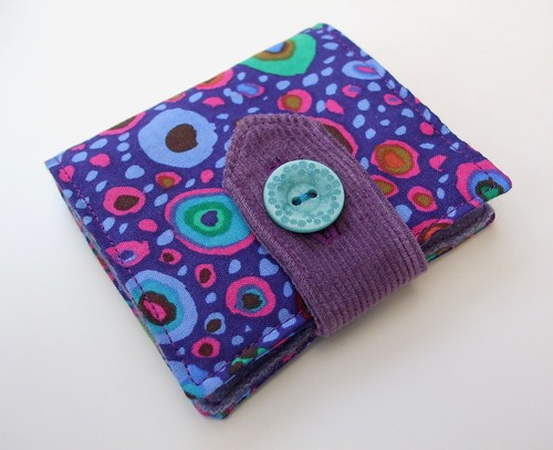 Purple splodge needle book