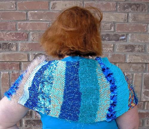 Doo-Da-Dah shawl in blue