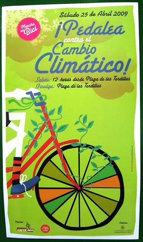 Pedalea contra el Cambio Climatico 25 de abril del 2009 Marcha Alianza por el Clima