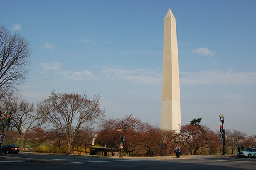 The Washington Monument in the morning
